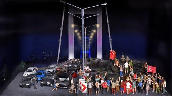 Dünya'nın ilk ve tek canlı tarih ve diorama müzesi Hisart, 15 Temmuz direnişinin dioramasını sergiliyor.