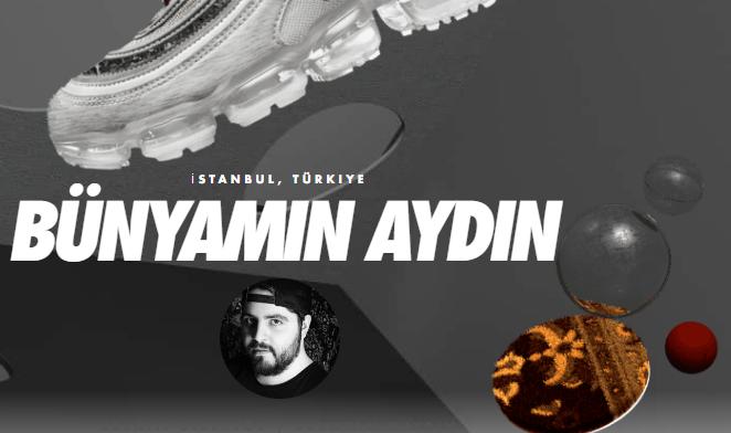 """Dünyaca tanınan Les Benjamins markasının tasarımcısı olan Bünyamin Aydın """"Nike Future Forward"""" oylamasında hak ettiği sıralamayı alması için dünya oylamasının sonucu bekliyor."""