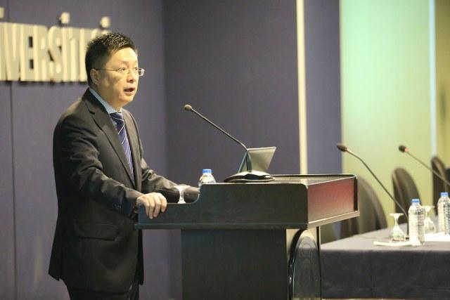 """Konuşmasında ICBC Türkiye Bankası A.Ş. Yönetim Kurulu Başkanı Xu Keen """"Çin-Türkiye dış ticaret hacmi giderek artıyor."""