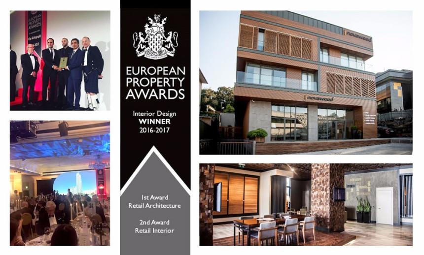 European Property Awards'ta (Avrupa Gayrimenkul Ödülleri) iki ödül aldı.